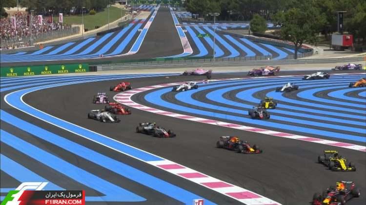 استارت - مسابقه فرمول یک فرانسه 2018