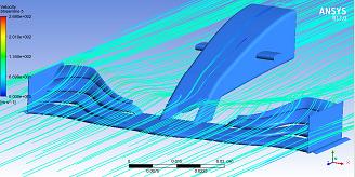 مسیر خطوط جریان هوا طی عبور از هندسه بال جلو 2019
