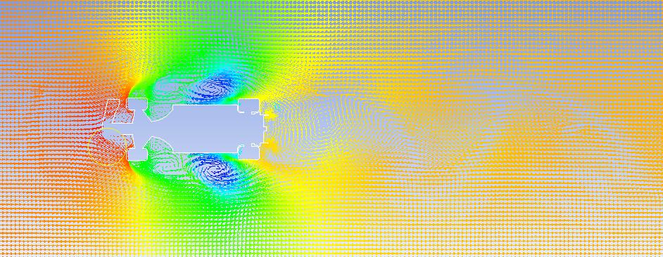 گرافیک ایجاد هوای آشفته پیرامون هندسه خودرو ۲۰۱۹