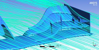 مسیر خطوط جریان هوا طی عبور از هندسه (End Plate) بال جلو 2018