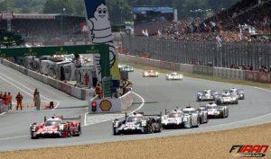 لحظه استارت مسابقه 24 ساعته لمان از سری مسابقات WEC