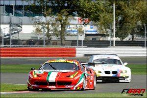 تیم AF Course با خودروی Ferrari 458 Italia و تیم BMW با خودروی M3 GT2