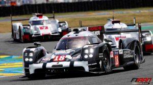 رقابت خودرو های Porsche 919 Hybrid و Audi R18 E tron Quattro در بخش LMP1-H