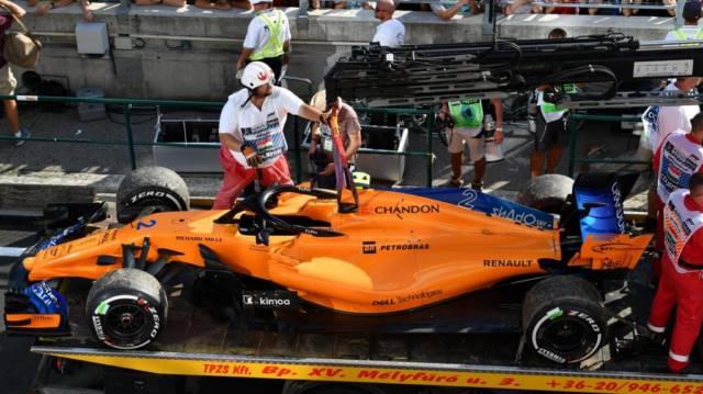 خودرو وندورن پس از کناره گیری از مسابقه - مجارستان 2018