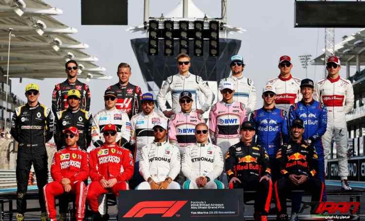 رانندگان - مسابقه فرمول یک ابوظبی 2018
