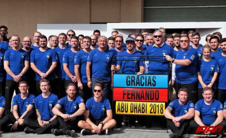 عکس تیمی مکلارن - مسابقه فرمول یک ابوظبی 2018