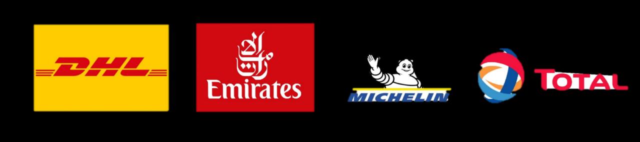تبلیغات - توتال ، میشلن ، پرواز امارات ، دی اچ ال