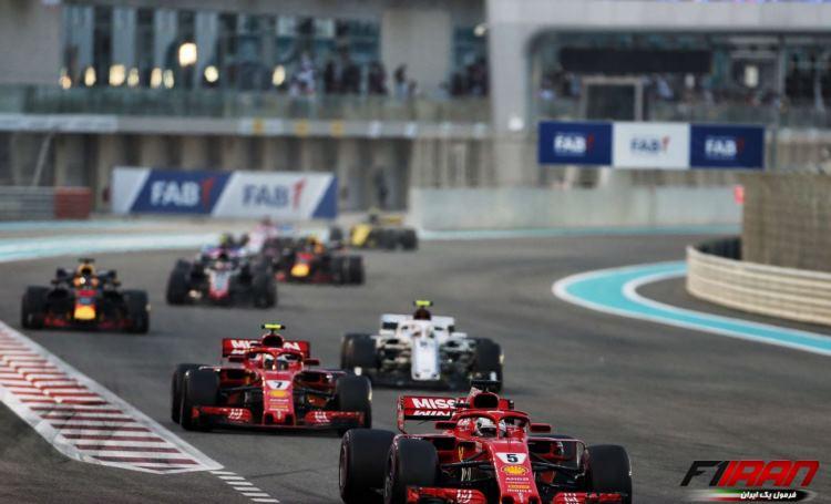 سباستین فتل - مسابقه فرمول یک ابوظبی 2018