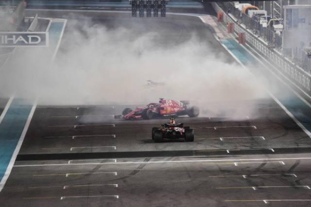 لوئیس همیلتون ، سباستین فتل و فرناندو آلونسو - مسابقه فرمول یک ابوظبی 2018