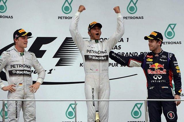 2014 Malaysian gp podium