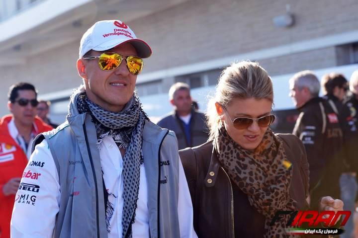 مایکل شوماخر به همراه همسرش کورینا