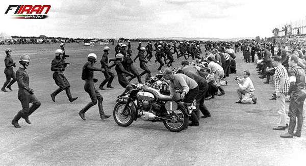 استارت مسابقه ی تراکستون 500 سال 1962