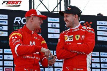 سباستین فتل و میک شوماخر - مسابقه ی قهرمانان 2019