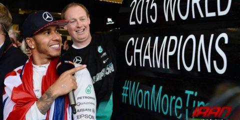 لوئیس همیلتون قهرمان فرمول یک 2015