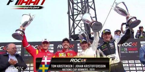 سباستین فتل و میک شوماخر -تام کریستنسن و جان کریستوفرسن - مسابقه قهرمانان 2019
