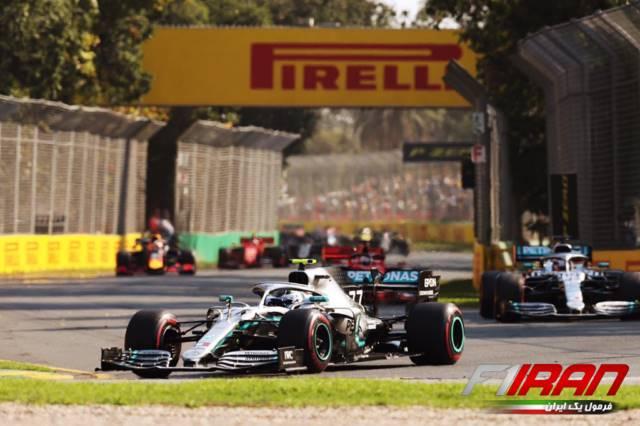 والتری بوتاس و لوئیس همیلتون ، استارت مسابقه استرالیا 2019