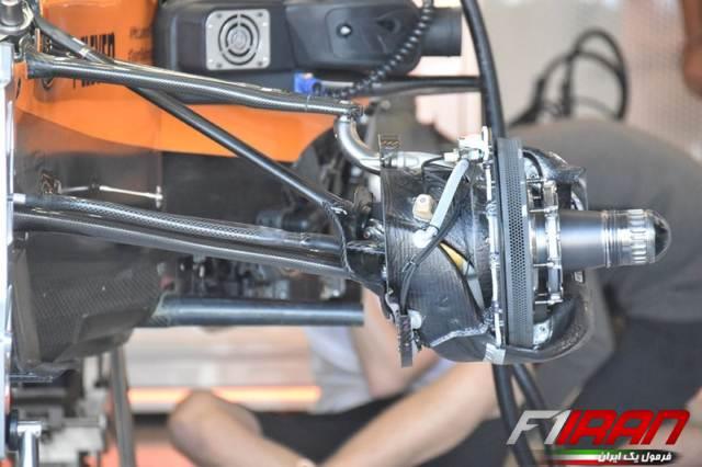 جزئیات سیستم تعلیق پشتی خودروی MCL34 تیم مک لارن