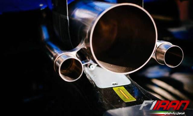 جزئیات خروجی اگزوز خودروی W10 مرسدس