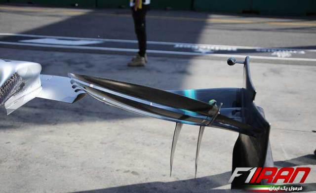 جزئیات بال جلوی خودروی W10 تیم مرسدس