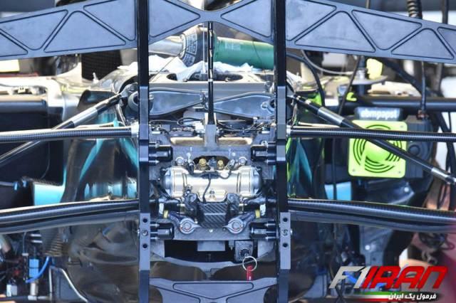 جزئیات سیستم تعلیق جلویی خودروی W10 تمی مرسدس
