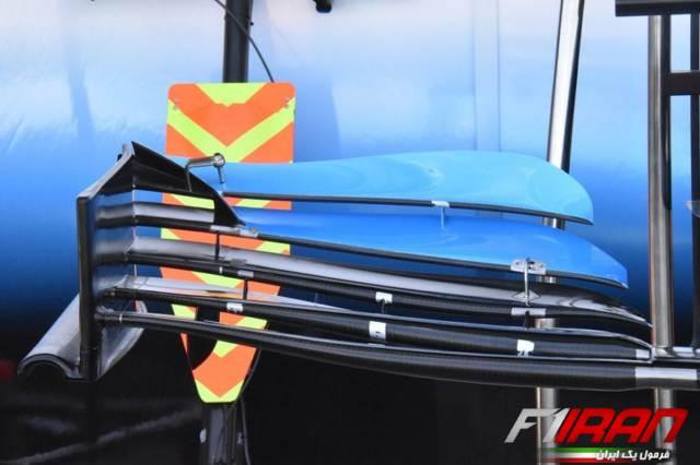 جزئیات بال جلوی خودروی FW42 تیم ویلیامز