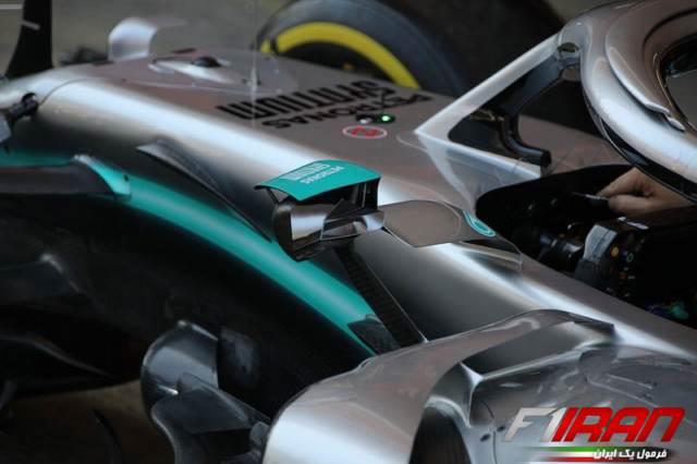 جزئیات آینه ی جدید خودروی W10 تیم مرسدس