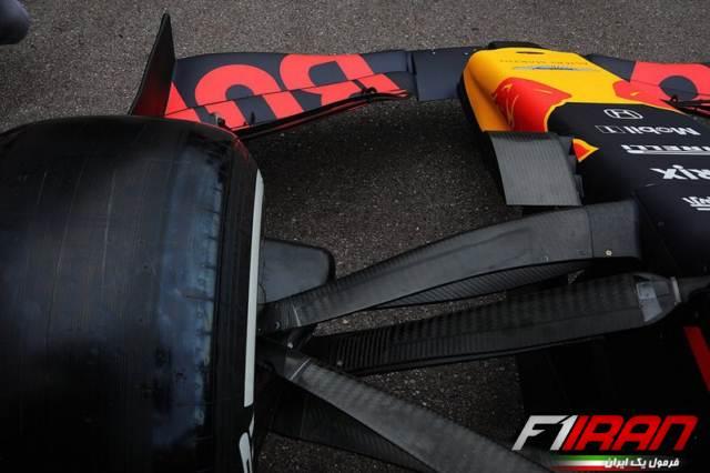 سیستم تعلیق جلوی خودروی RB15 ردبول