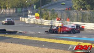 تصادف پاستور مالدونادو - خودروی شماره 31 تیم دراگون اسپید
