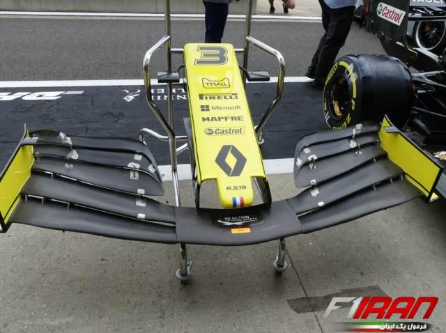 بال جلوی جدید خودروی RS19 رنو