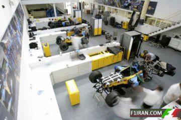 ساخت خودرو فرمول یک در کارخانه انستون رنو