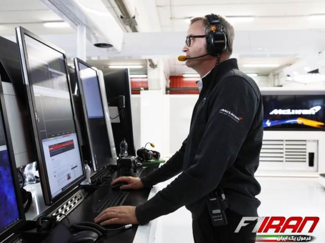 کریس وایت (مهندس ارشد پشتیبانی خودروی مک لارن) - تست های پیش فصل فرمول یک بارسلونا 2019