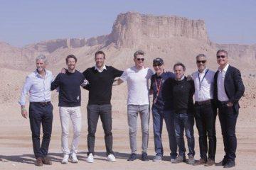رونمایی از پیست فرمول یک عربستان با نام قدیه - با حضور دیمون هیل، دیوید کولتارد، نیکو هالکنبرگ و رومن گروژان