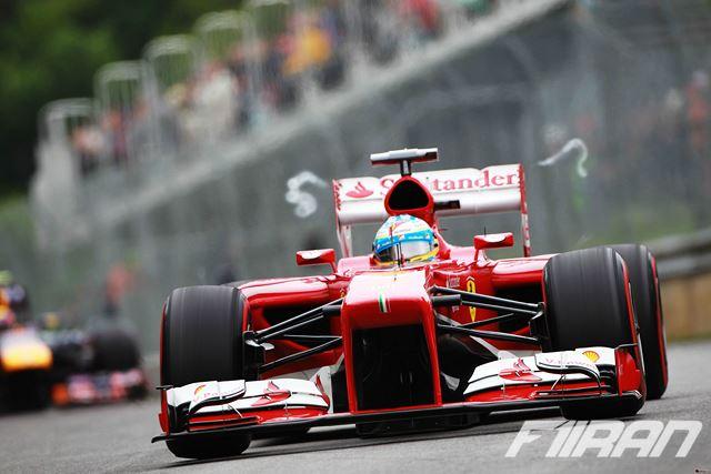 گردابه لبه بال عقب در خودروی فراری F138 2013