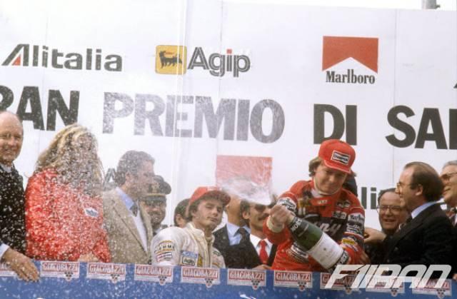 ژیل ویلنوو و دیدیر پیرونی - گرندپری فرمول یک ایتالیا 1982