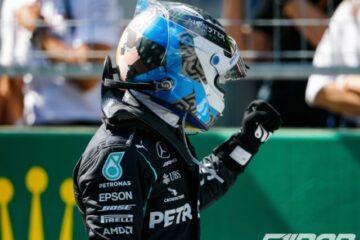 والتری بوتاس پس از پیروزی در فرمول یک اتریش 2020