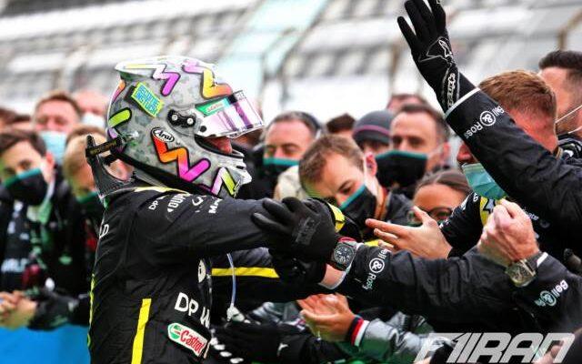 دنیل ریکاردو و تیم رنو - فرمول یک ایفل آلمان 2020