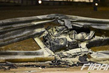 کاکپیت ماشین رومن گروژان پس از تصادفش در فرمول یک بحرین 2020