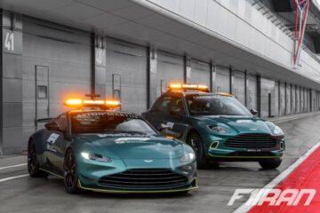 استون مارتین دی بی ایکس به عنوان خودروی پزشکی و ونتیج به عنوان خودروی ایمنی جدید فرمول یک 2021